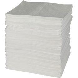 """200 hojas absorbentes hidrocarburos """"Uptimum"""" simple espesor con capa de refuerzo en ambos lados. 41 cm x 46 cm"""