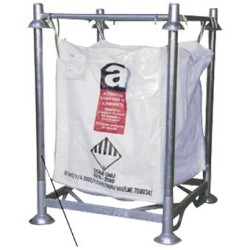 Lote de 4 postes para soporte de big-bag, altura 168 cm
