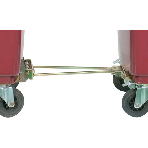 Barra de enganche para contenedores 4 ruedas 1
