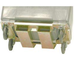 Refuerzo de contenedor con paso de horquilla para contenedores 4 ruedas
