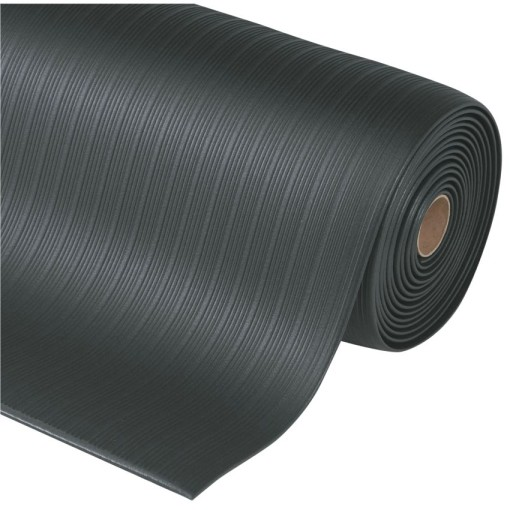 Airug® Alfombra antifatiga  para uso corriente Color Negro en rollo de 18,3m