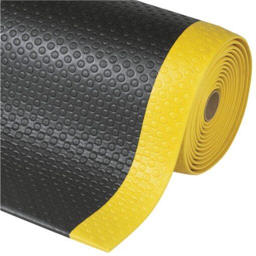 Bubble Sof-Tred™ Alfombra antifatiga para uso intensivo Color Negro con viselado en Amarillo en rollo de 18,3m
