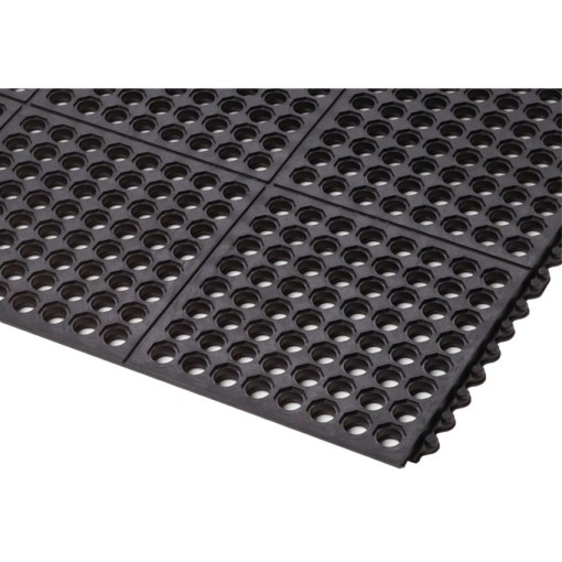 Cushion-EaseTM  Losas-rejillas modulares de caucho para uso intensivo 91 cm x 91 cm x 1,9 cm 1