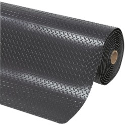 Cushion Trax® Alfombra antifatiga superadherente  Color Negro para uso extremo (de 1m hasta 22,8m) Ancho 122cm