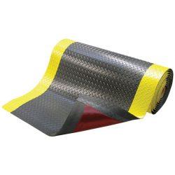 Alfombra antifatiga superadherente con viselado en Amarillo para uso extremo 152 cm x 91 cm x 1,43 cm.