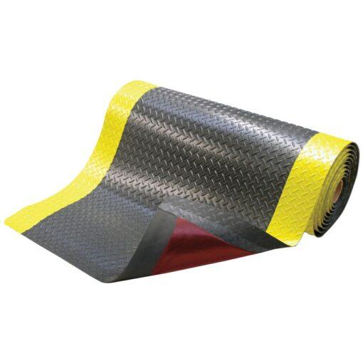 Cushion Trax®Alfombra antifatiga superadherente con viselado en Amarillo  para uso extremo (1m hasta 22,8m) Ancho 122cm 1