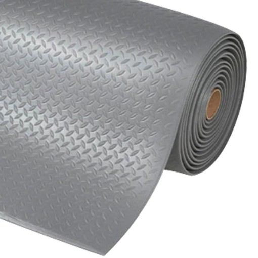 Diamond Sof-Tred™Alfombra antifatiga  para uso intensivo Color Gris en rollo de 18,3m