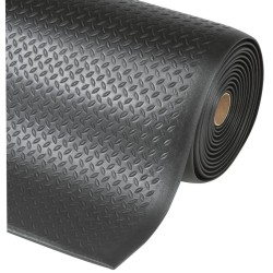 Diamond Sof-Tred™Alfombra antifatiga  para uso intensivo Color Negro en rollo de 18,3m.
