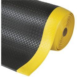 Diamond Sof-Tred™ Alfombra antifatiga para uso intensivo Color Negro con viselado en Amarillo en rollo de 18,3m.