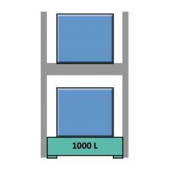 Estantería de seguridad en acero galvanizado para contenedores y palets 165 cm x 130 cm x 390 cm