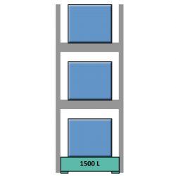 Estantería de seguridad en acero galvanizado para contenedores y palets  169 cm x 130 cm x 390 cm