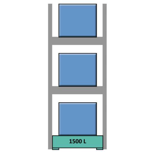 Elemento siguiente para estantería en acero galvanizado para contenedores y palets 169 cm x 130 cm x 390 cm 1