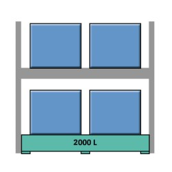 Estantería de seguridad en acero galvanizado para contenedores y palets 289 cm x 130 cm x 390 cm