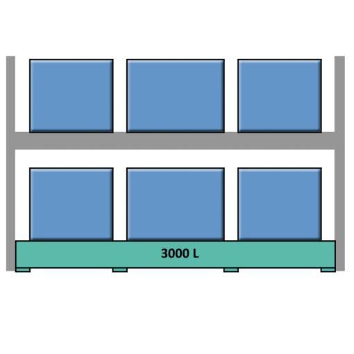 Elemento siguiente para estantería en acero galvanizado para contenedores y palets 349 cm x 130 cm x 390 cm 1