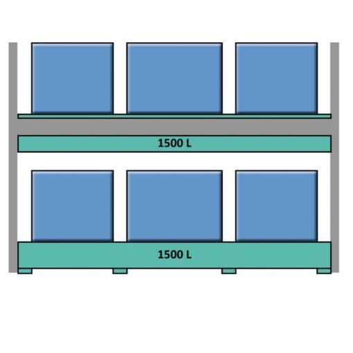 Estantería de seguridad en acero galvanizado para contenedores y palets 349 cm x 130 cm x 390 cm 1