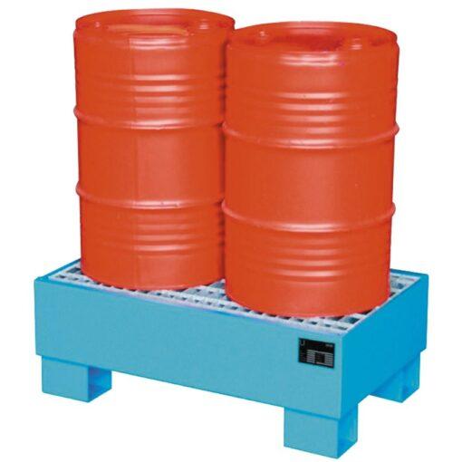 Cubeta de retención de acero barnizado 2 bidones, 72 litros