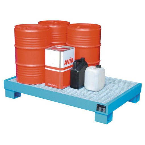 Cubeta de retención de acero barnizado 6 bidones, 103 litros