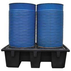 Cubeta de retención polietileno 2 bidones | Haleco 01