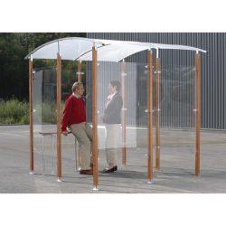 Marquesina independiente para fumadores de 6 m2 350 cm x 250 cm x 230 cm