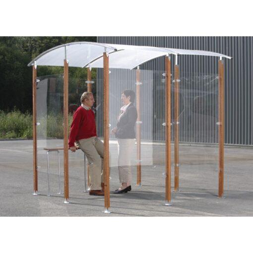Marquesina independiente para fumadores  4 m2 250 cm x 250 cm x 230 cm 1