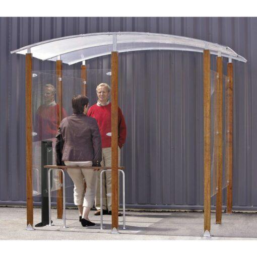 Marquesina adosada para fumadores de 4 m2 250 cm x 250 cm x 230 cm 1