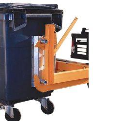 Timón basculante para contenedores de desechos 770L, 135 cm x 135 cm x 61,5 cm
