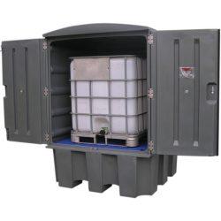 Contenedor polietileno 1 contenedor, 1100 litros 150 cm x 150 cm x 215 cm
