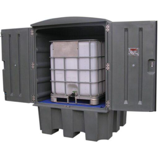 Contenedor polietileno 1 contenedor, 1100 litros 150 cm x 150 cm x 215 cm 1