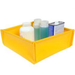 Cubeta de retención plegable en PVC para bidones pequeños, 25 litros 61 cm x 61 cm x 12,1 cm