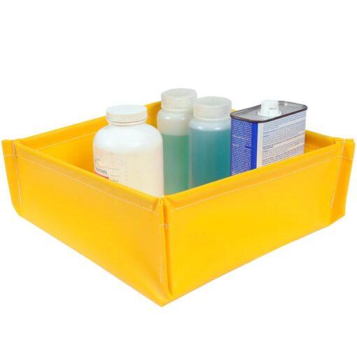 Cubeta de retención plegable en PVC para bidones pequeños, 19 litros 45,7 cm x 45,7 cm x 12,1 cm 1
