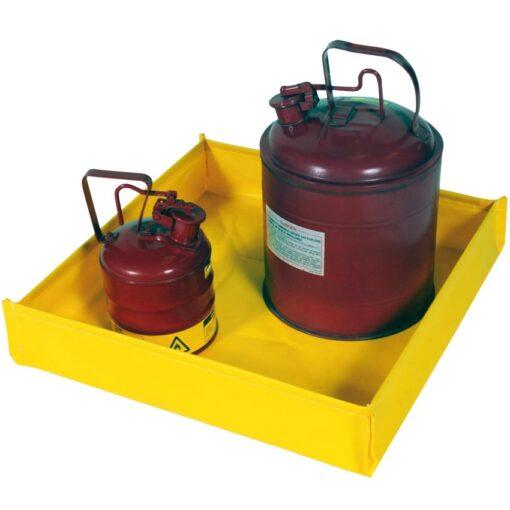Cubeta de retención plegable en PVC para bidones pequeños, 76 litros 121,9 cm x 121,9 cm x 12,1 cm 1