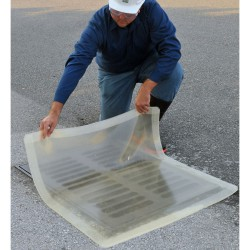 Placa de obturación bicapa transparente 4,6 cm x 4,6 cm