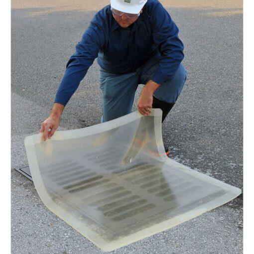 Placa de obturación bicapa transparente 4,6 cm x 4,6 cm 1