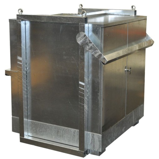 Contenedor exterior eslingable en acero galvanizado 1 contenedor, 1000 L 166 cm x 158 cm x 214 cm 1