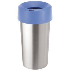 Tapa embudo para paplera color Azul para papelera aspecto inox 50L,  38 cm x 38 cm x 15 cm