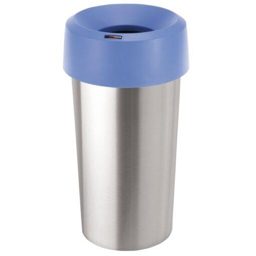 Tapa embudo para paplera color Azul para papelera aspecto inox 50L,  38 cm x 38 cm x 15 cm 1