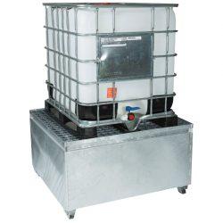Cubeta de retención de acero galvanizado 1 GRG/IBC , 1000 litros | Haleco 01