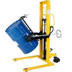 Carro elevador y volteador de bidones metálicos de 200 litros | Haleco 01