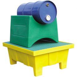 Cubeta de retención de polietileno para bidones y garrafas, 70 litros 81 cm x 64 cm x 34 cm