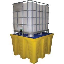 Cubeta de retención de polietileno 1 GRG/IBC, 1200 litros 130 cm x 129 cm x 90 cm