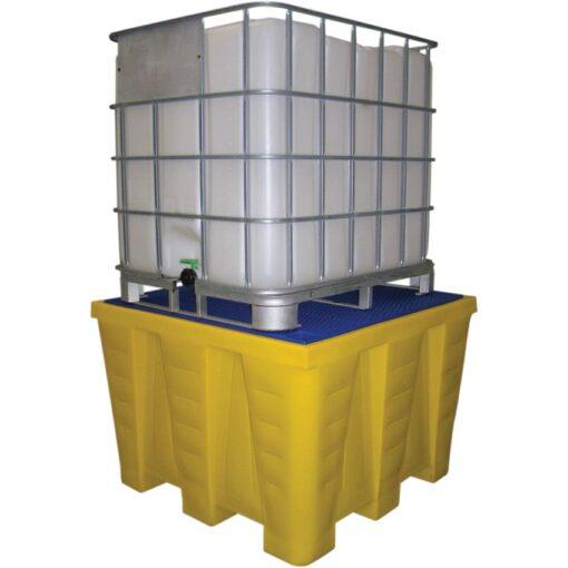 Cubeta de retención de polietileno 1 GRG/IBC, 1200 litros 130 cm x 129 cm x 90 cm 1
