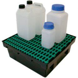 Cubeta de retención de polietileno para frascos, 18 litros 43 cm x 41 cm x 15,5 cm