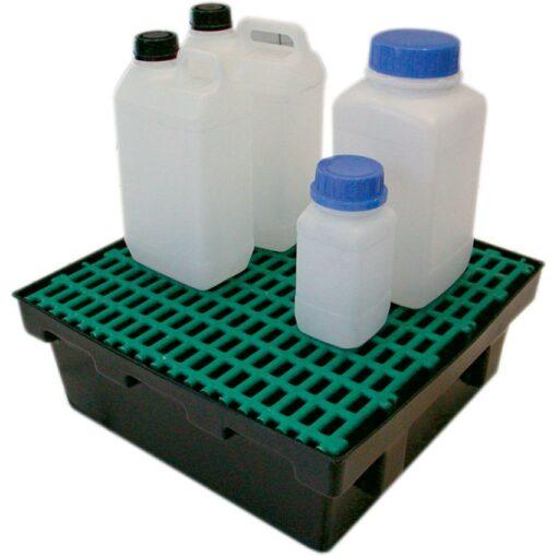 Cubeta de retención de polietileno para frascos, 18 litros 43 cm x 41 cm x 15,5 cm 1
