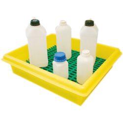 Cubeta de retención de polietileno para frascos, 20 litros 54 cm x 45 cm x 13,5 cm