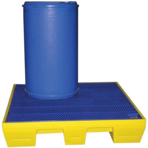 Cubeta de retención de polietileno 4 bidones, 220 litros 125 cm x 125 cm x 24 cm 1