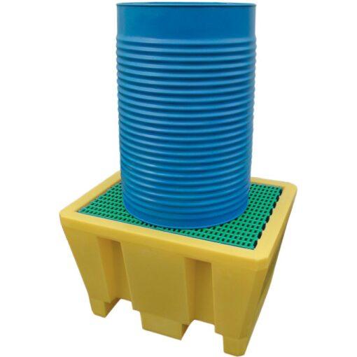 Cubeta de retención de polietileno 1 bidón, 225 litros 92,5 cm x 75,5 cm x 55,5 cm 1