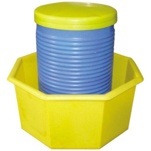 Cubeta de retención octogonal de polietileno, 300 litros 99 cm x 99 cm x 46,5 cm 1