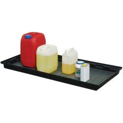 Cubeta de retención en polietileno para bidones, 30 litros 100 cm x 60 cm x 8,5 cm