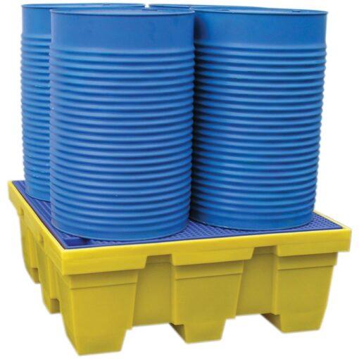 Cubeta de retención de polietileno 4 bidones, 450 litros 125 cm x 125 cm x 47,5 cm 1