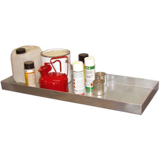 Cubeta de retención de acero galvanizado para bidones, 40 litros